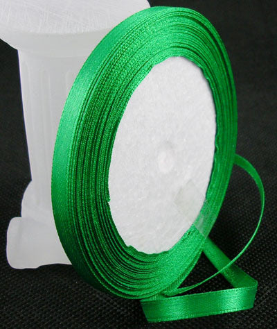 6mm Satin ribbon Emerald Green