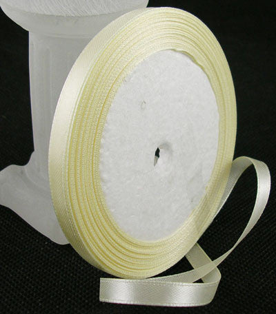 6mm Satin ribbon Cream