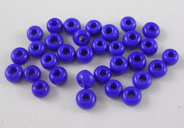 Size 8/0 seed beads, blue/purple