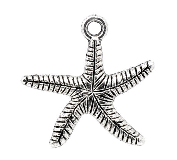 Antique silver starfish charms.