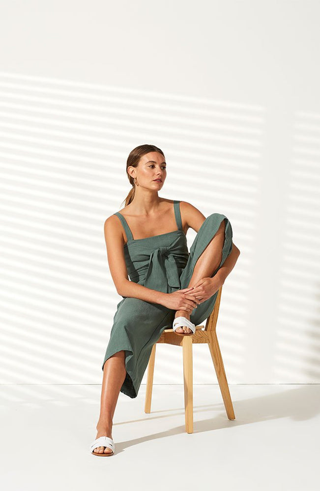 Juniper Cropped Jumpsuit - Sage