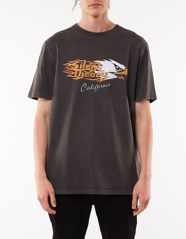 Flaming Eagle Tee - Charcoal