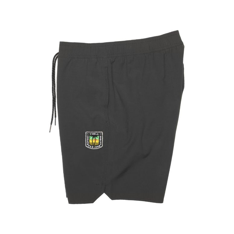 "Solid Sets Elastic 17.5"" Boardshort - Phantom"