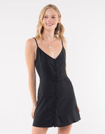 Sophia Washed Dress - Black
