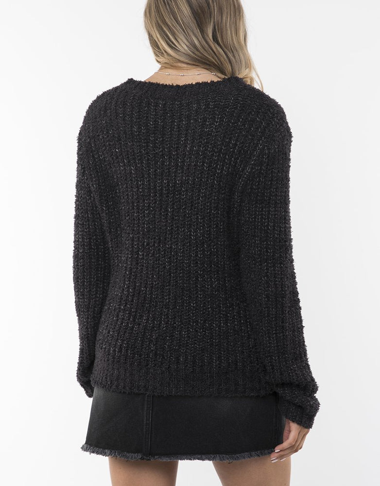 Flutter Crew Knit - Charcoal