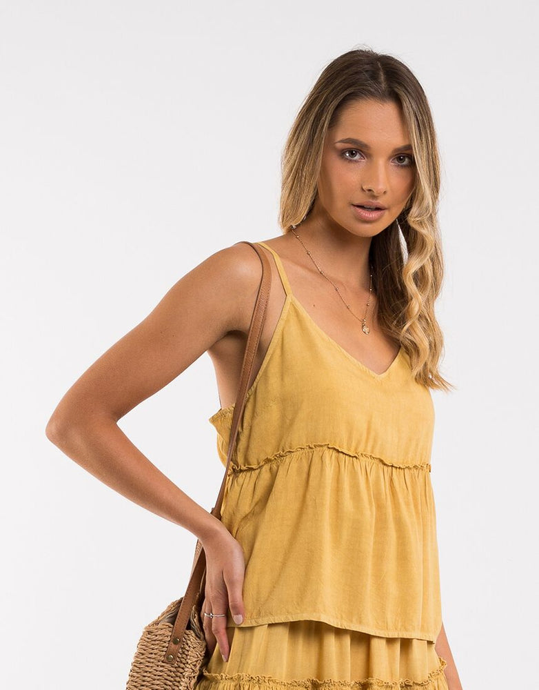 Supple Washed Cami - Yellow Safron