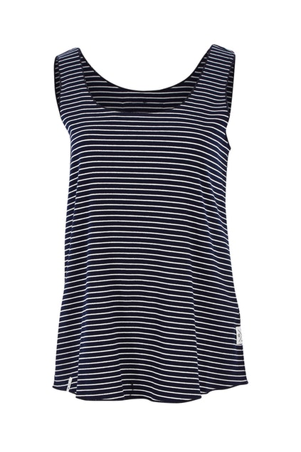 Lilly Layer Stripe Tank - Navy & White