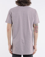 Stripe Pocket Tee - Burgundy