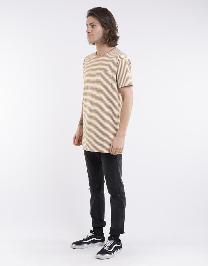Stripe Pocket Tee - Beige