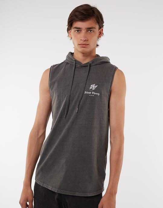 Flying High Hooded Muscle - Charcoal