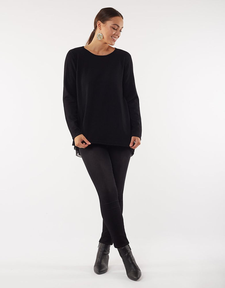 Flowing Mix Knit- Black
