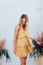 Supple Washed Dress - Yellow Safron