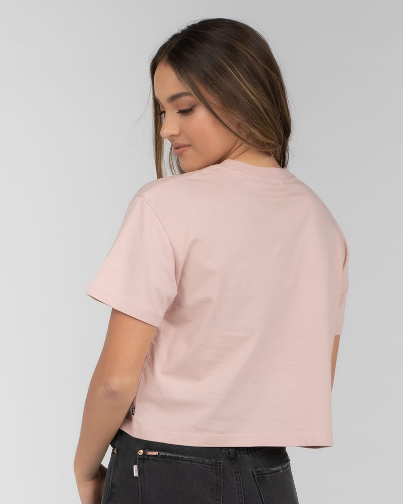 Rusty Essentials Crop Short Sleeve Tee - Rose Cloud