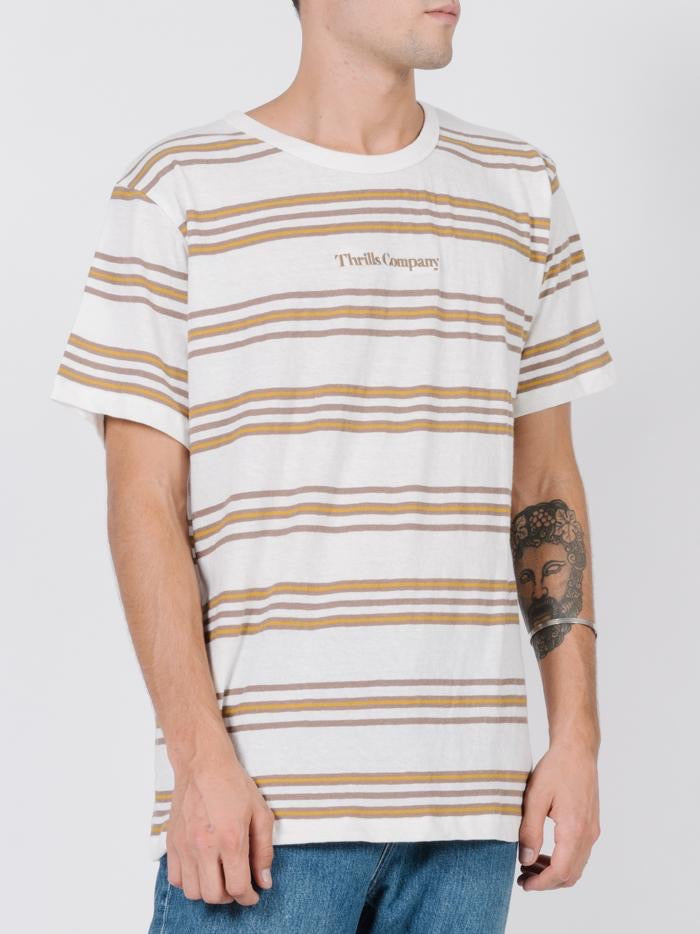 Memory Stripe Merch Fit Tee - Dirty White