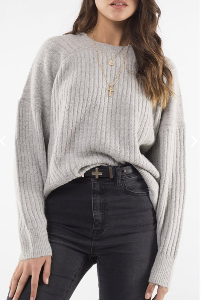 Tash Sweater - Grey Marle