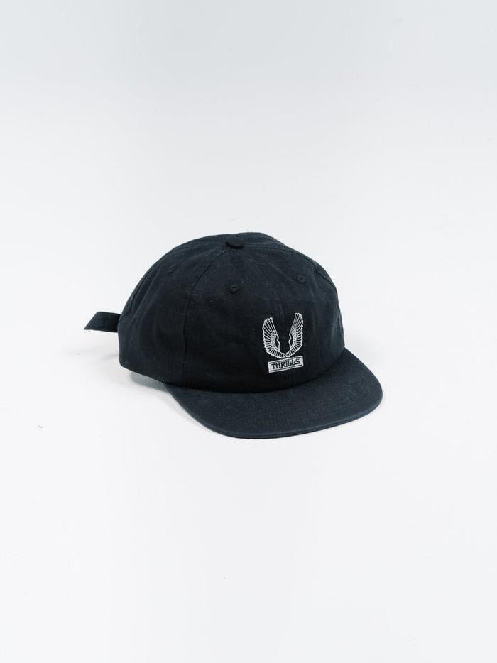 Wings Badged Cap - Black