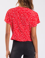 Something Floral Top - Red