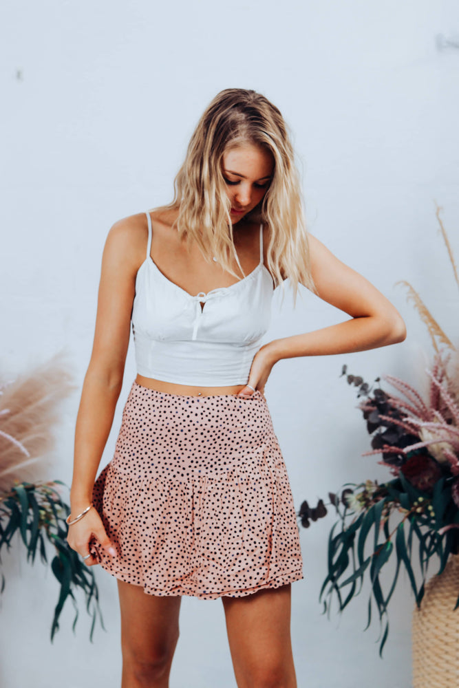 Painted Dot Mini Skirt