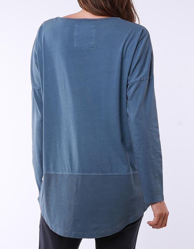 Fundamental L/S Rib Tee Steel Blue