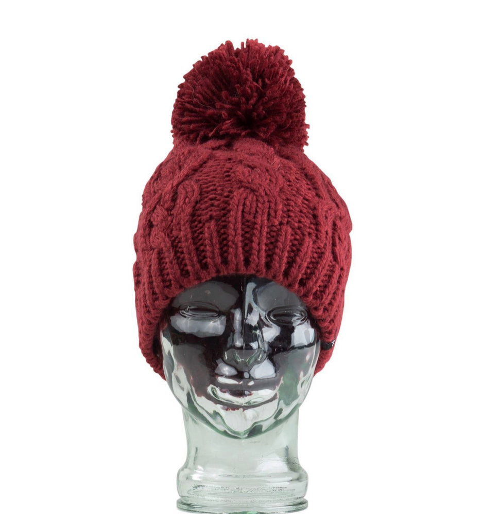 Mermaid Beanie - Ruby Wine