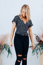 Something Floral Top - Black