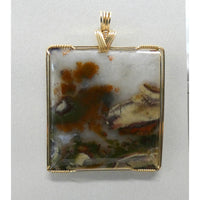 Indonesian Moss Agate in 14K Goldfilled Wire
