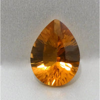 Concave Faceted Citrine