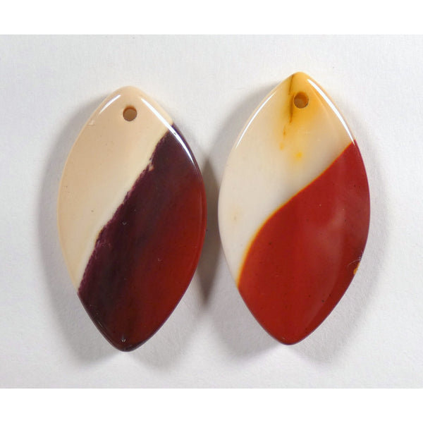 Mookaite Drilled Pair