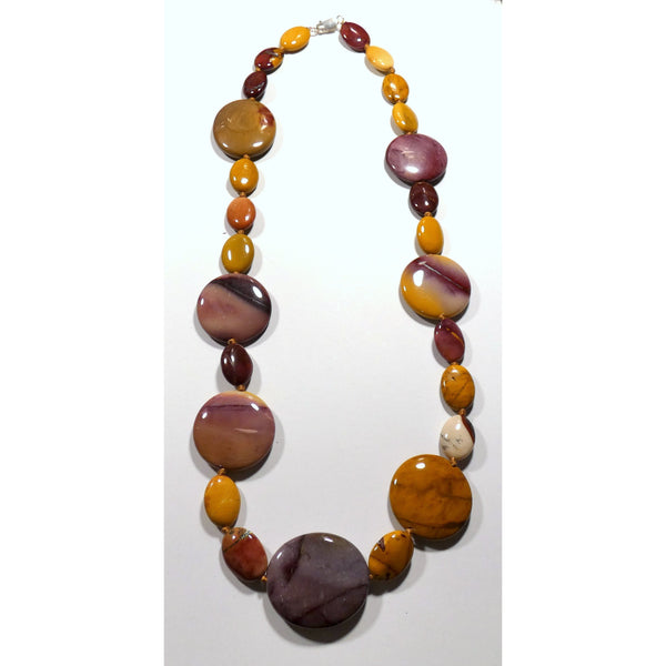 Asymmetrical Mookaite 24 inch Necklace