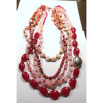 Multi Strand Necklace in Shades of Pink