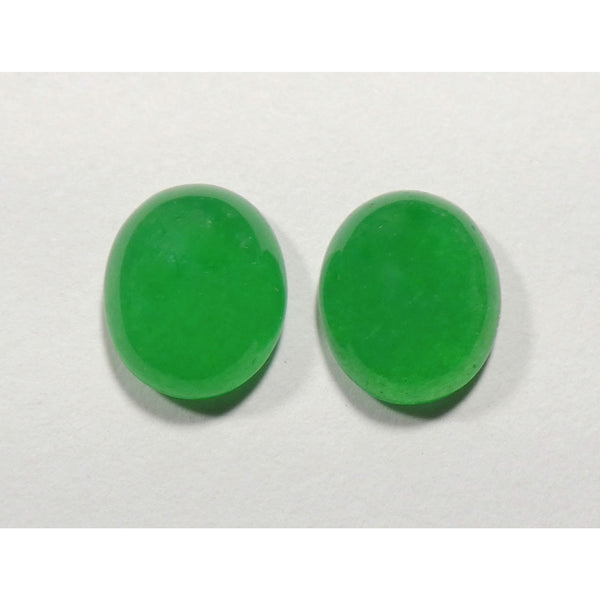 Green Chalcedony Small Matched Pair