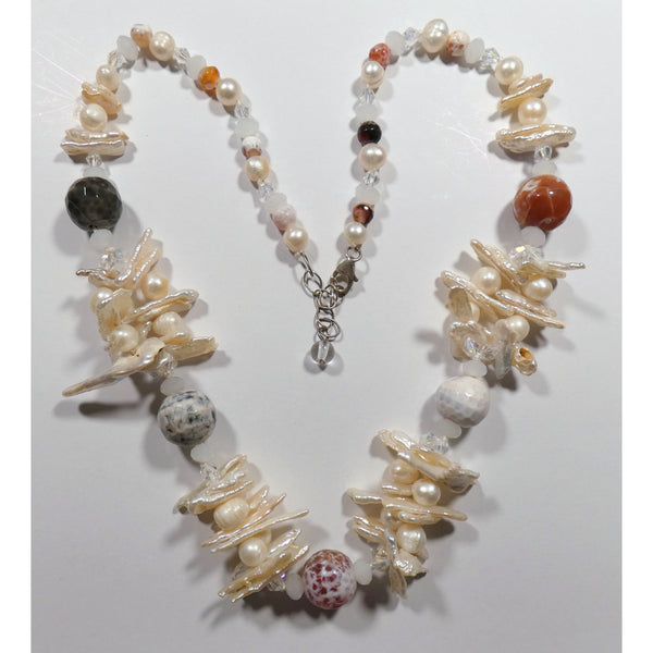 Multi Bead Pearl 20 inch Necklace