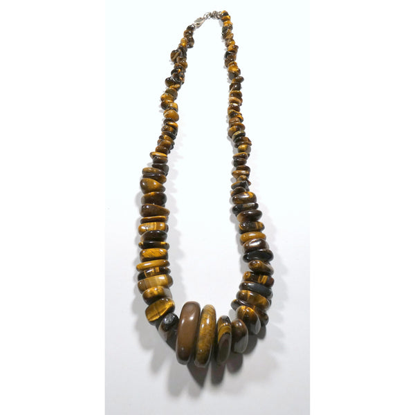 Graduated Chip Tiger Eye 20 inch Necklace