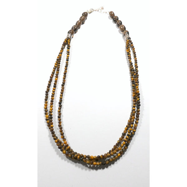 Triple Strand Tiger Eye 18 inch Necklace