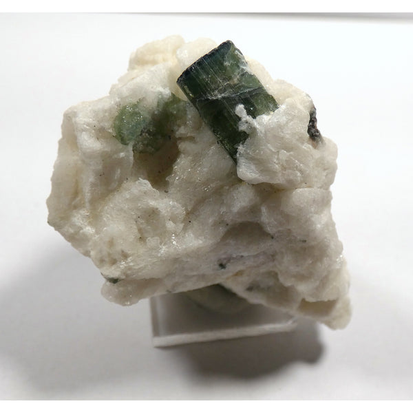 Green Tourmaline Crystal in Matrix