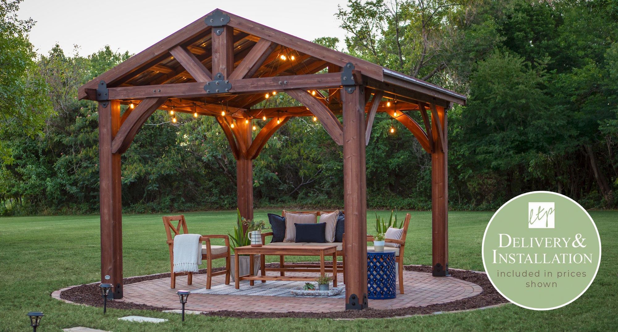 Sonora 12x12 Gazebo Installation and Delivery | Leisure Time