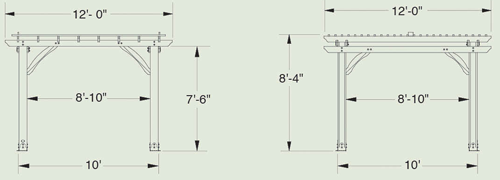 Sahara Pergola Diagram