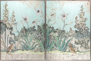 """Allegria"" Limited Edition Fine Art Replica Diptych by Colette Cosentino"