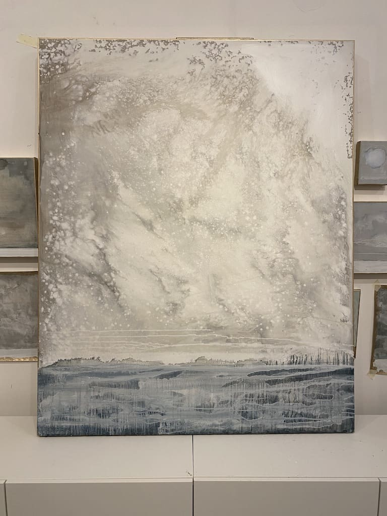 """Silver Linings"" 48"" x 60"" acrylic on canvas"
