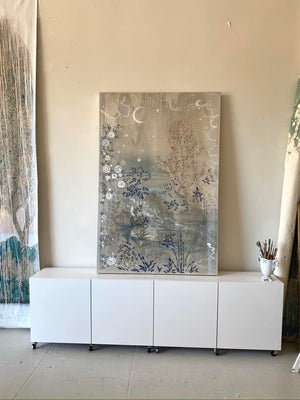 """Twilight's Garden"" 72"" x 48"" acrylic on canvas"