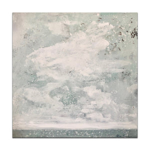 "The Way of Clouds - 36"" x 36"" x 2 1/4"" acrylic on canvas $1,800 SOLD"