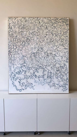 """Garland"" 60"" x 48"" oil on canvas"