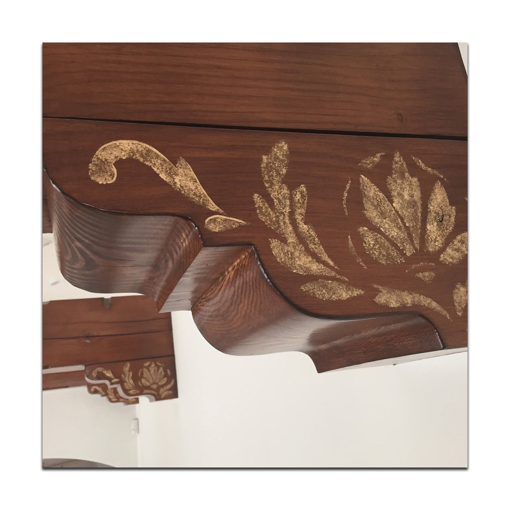 stenciled corbels