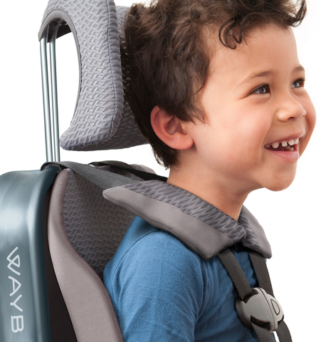 WAYB Pico travel car seat with strong, light, eco-friendly aluminum frame