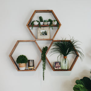 Hexagon Shelf Arrangment