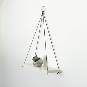 Wooden Hanging Shelf with rope