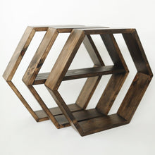3 Hexagon Shelves