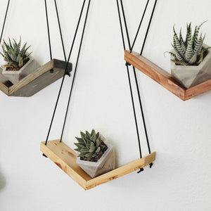 Wooden Plant Shelves