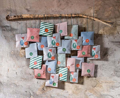 DIY Adventskalender am Ast