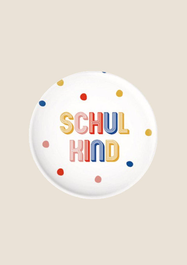 "ava&yves Button ""Schulkind"" bunt - tiny-boon.com"